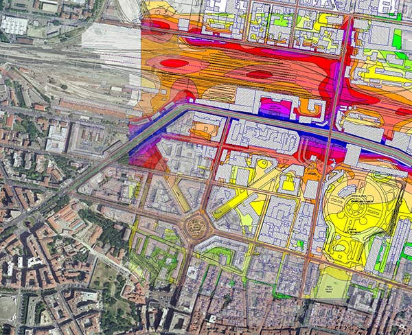Acoustic zoning of Bologna